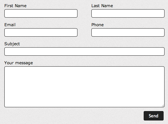 Create a two column form using Contact form 7