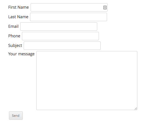 Creating a responsive two column form using Contact form 7